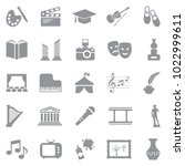 culture icons. gray flat design.... | Shutterstock .eps vector #1022999611