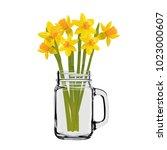 Daffodils In A Glass Jar....