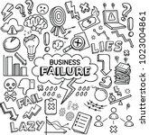 business failure vector doodles | Shutterstock .eps vector #1023004861
