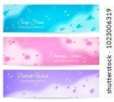 delicate wash horizontal... | Shutterstock .eps vector #1023006319