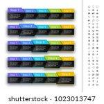 five steps progress bar in...   Shutterstock .eps vector #1023013747