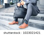 handsome male business... | Shutterstock . vector #1023021421