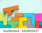different colorful shapes... | Shutterstock . vector #1023025417