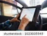 senior female mechanic...   Shutterstock . vector #1023035545
