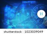 abstract technological health...   Shutterstock .eps vector #1023039049