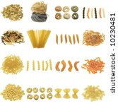 Pasta Collection Isolated On A...