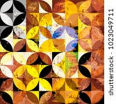 abstract geometric background... | Shutterstock .eps vector #1023049711