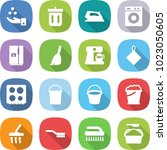 flat vector icon set   chemical ... | Shutterstock .eps vector #1023050605