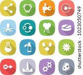 flat vector icon set   molecule ... | Shutterstock .eps vector #1023050749