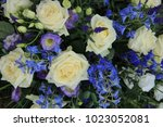 mixed wedding flower... | Shutterstock . vector #1023052081