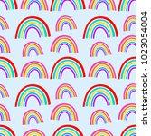 vector rainbow pattern design ... | Shutterstock .eps vector #1023054004