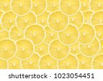 Yellow Lemon Slices Pattern...