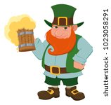 happy saint patrick's day.... | Shutterstock .eps vector #1023058291