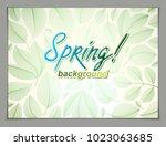 spring horizontal banner design ... | Shutterstock .eps vector #1023063685