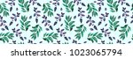 bay leaf pattern  wedding honor ... | Shutterstock . vector #1023065794