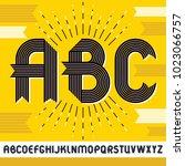 vector capital modern alphabet...   Shutterstock .eps vector #1023066757