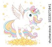cute unicorn vector... | Shutterstock .eps vector #1023072841