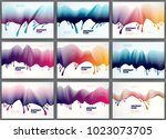 lined vector wave backgrounds...   Shutterstock .eps vector #1023073705