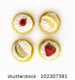 Four Fruit Cupcakes
