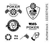 poker related labels emblems... | Shutterstock .eps vector #1023074191