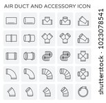 air duct and sccessory icon set. | Shutterstock .eps vector #1023078541