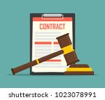 contract law concept of legal... | Shutterstock .eps vector #1023078991