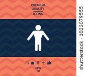 man symbol icon | Shutterstock .eps vector #1023079555