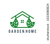 green house logo design | Shutterstock .eps vector #1023080824