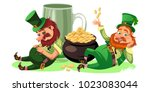saint patrick day characters ... | Shutterstock .eps vector #1023083044
