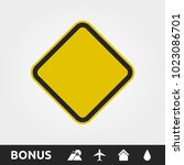 blank yellow caution warning... | Shutterstock .eps vector #1023086701