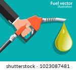 businessman holding a fuel...