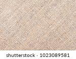 texture of the old burlap  | Shutterstock . vector #1023089581