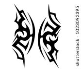 tattoo tribal vector design....   Shutterstock .eps vector #1023092395