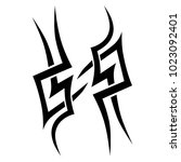 tattoo art tribal abstract... | Shutterstock .eps vector #1023092401