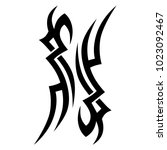 tattoo tribal vector design.... | Shutterstock .eps vector #1023092467