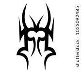 tattoo tribal vector design.... | Shutterstock .eps vector #1023092485