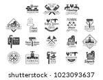plumbing and repairing service... | Shutterstock .eps vector #1023093637