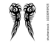 tattoo tribal vector designs.... | Shutterstock .eps vector #1023093925