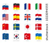 flags of the world. vector... | Shutterstock .eps vector #1023094555