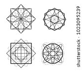 sacred geometry shape vector... | Shutterstock .eps vector #1023095239