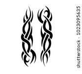 tattoo tribal vector design. | Shutterstock .eps vector #1023095635