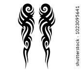 tribal pattern tattoos art... | Shutterstock .eps vector #1023095641