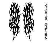 tribal pattern tattoo vector...   Shutterstock .eps vector #1023097627