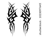 tattoo tribal vector designs.... | Shutterstock .eps vector #1023097645