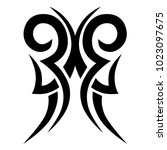 tattoo tribal vector design.... | Shutterstock .eps vector #1023097675