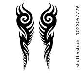 tattoo tribal vector design. | Shutterstock .eps vector #1023097729