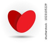 beautiful love heart with... | Shutterstock .eps vector #1023105229