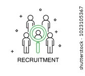 recruitment. creative idea... | Shutterstock .eps vector #1023105367