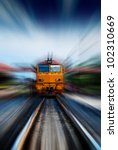 thai train arriving at station | Shutterstock . vector #102310669