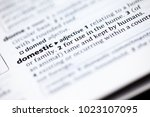 close up to the dictionary... | Shutterstock . vector #1023107095